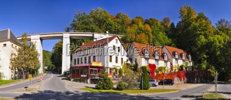 germany saxony sebnitz houses at the