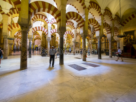 spain andalusia cordoba mosque cathedral columned