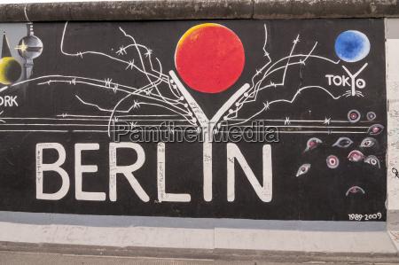 germany berlin mural painting on berlin