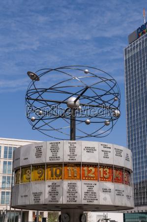 germany berlin world clock at alexanderplatz
