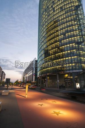 germany berlin buildings at potsdamer platz