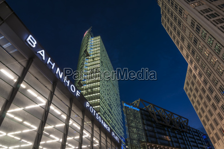 germany berlin view of bahntower and