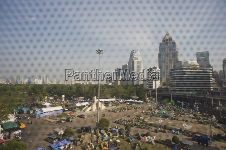 thailandbangkokprotest camp von demonstranten