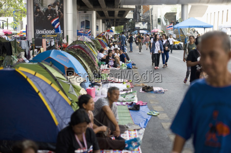thailandbangkokprotestcamp in siam center