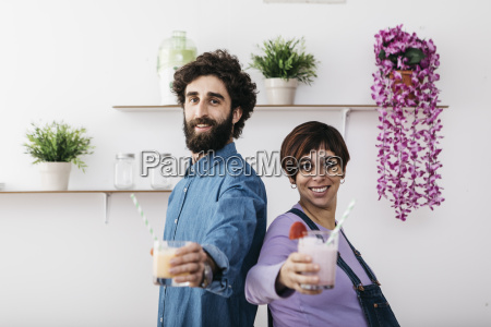 porträt, von, paaren, mit, gläsern, verschiedener - 21058281