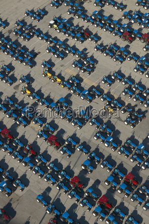 usa maryland aerial photograph of tractors