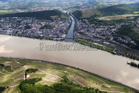 germany rhineland palatinate confluence of river