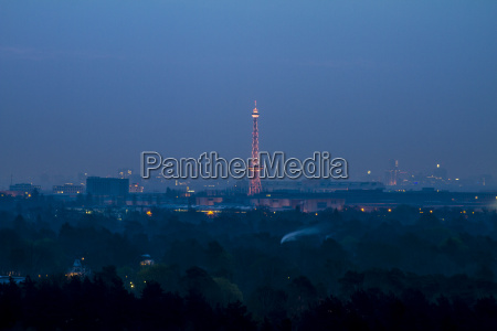 germany berlin view from teufelsberg to