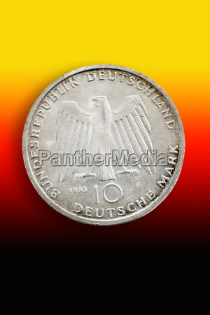 old german commemorative coin in front