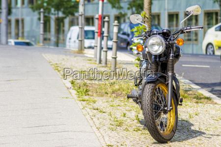 germany berlin parking motorbike