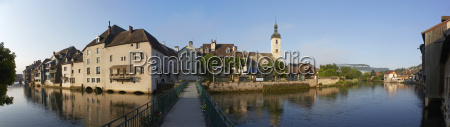 france view of river loue in