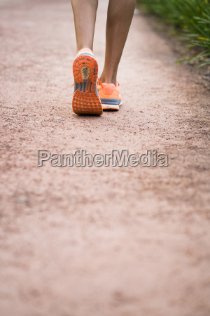 close up of running woman
