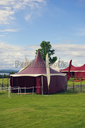sweden taellberg red circus tent at