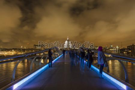 grossbritannien london blick von der millennium