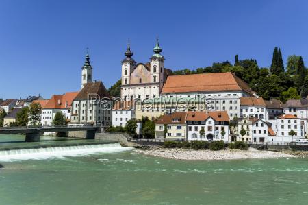 austria upper austria steyr view of