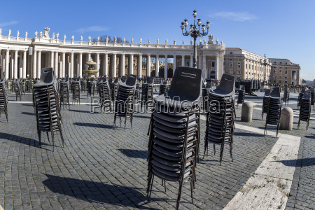 italy rome st peters basilica preparation