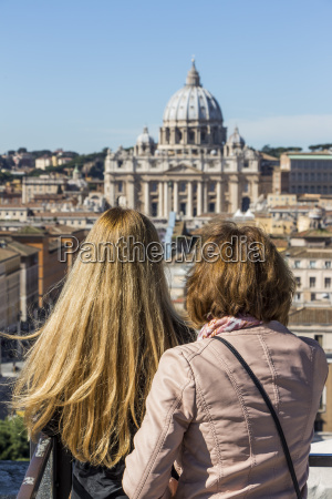 italy rome two women looking at