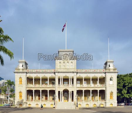 usa hawaii honolulu iolani palast nationales