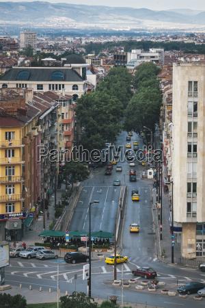 bulgaria sofia city view view to