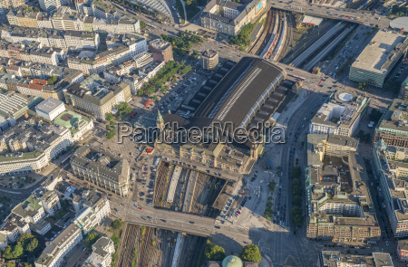 germany hamburg aerial view of central