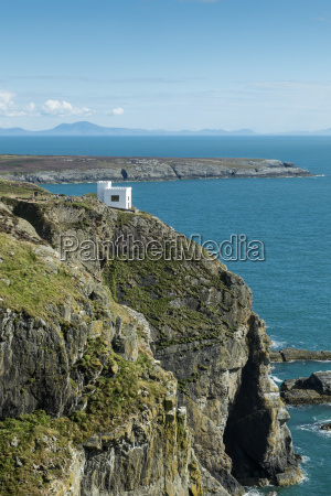 uk wales anglesey heilige insel klippe