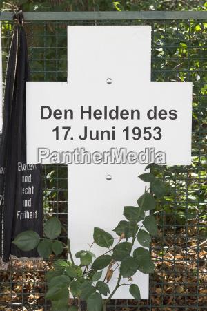 germany berlin memorial plaque for uprising