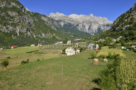 albania view of theth national park