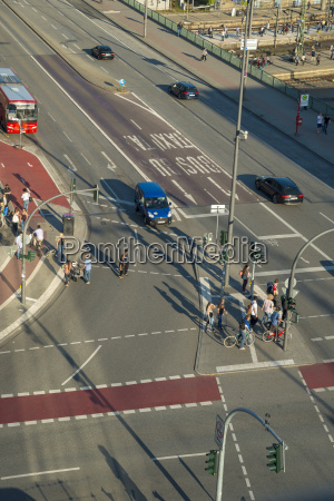 germany hamburg steintordamm crossroad