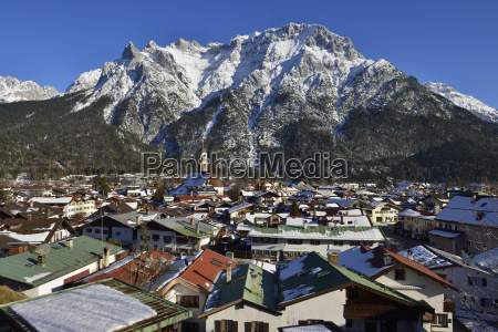 germany bavaria view of mittenwald near