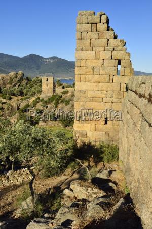 tuerkei blick auf die antike stadtmauer