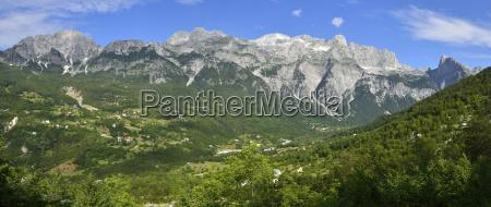 albania view towards theth theth valley