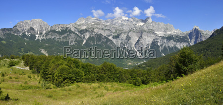albania view towards theth thethi valley