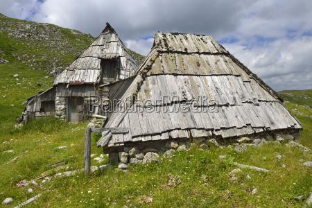 montenegro view of shepherd hut at