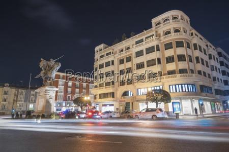 spain burgos city view at night