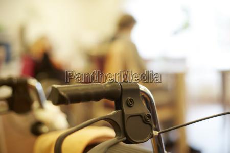 wheeled walker in a nursing home