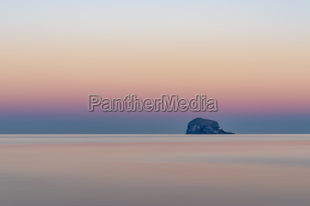 uk scotland bass rock sunset