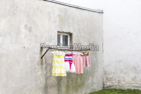 germany glum backyard with childrens dresses