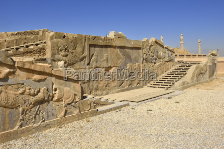 iran persepolis view to reliefs of