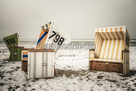 germany lower saxony beach chairs at