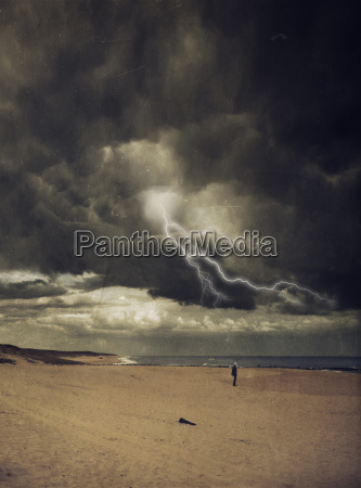 france contis plage man standing at