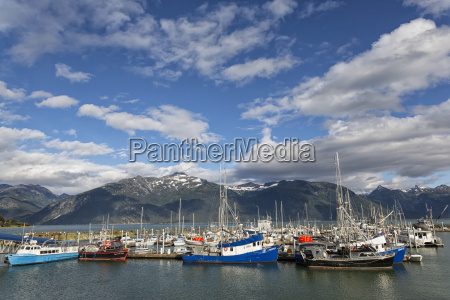 usa alaska harbour of haines at