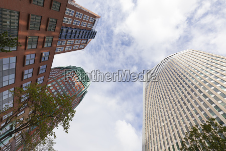 netherlands the hague office towers seen
