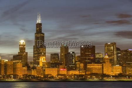 usa illinois chicago view of willis