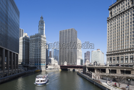 united states illinois chicago view of