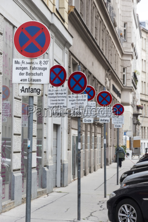 austria vienna row of no stopping