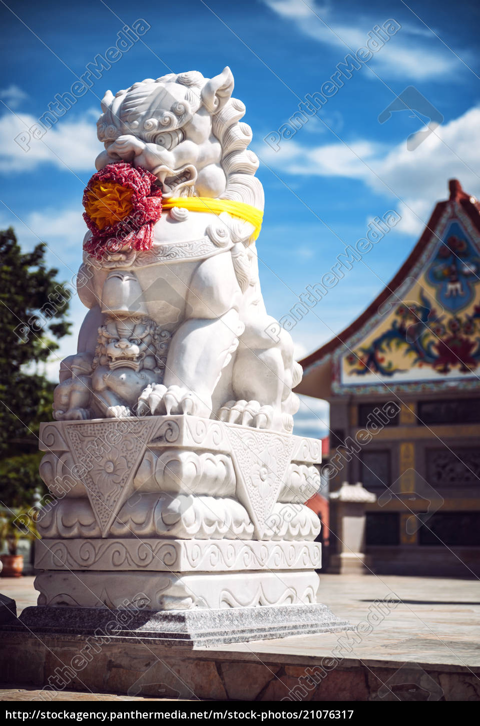 thailand, , rock, lion, in, front, of - 21076317