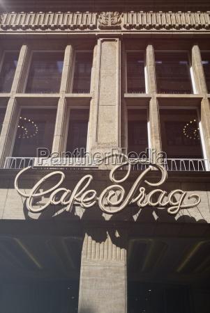 germany saxony dresden facade of cafe