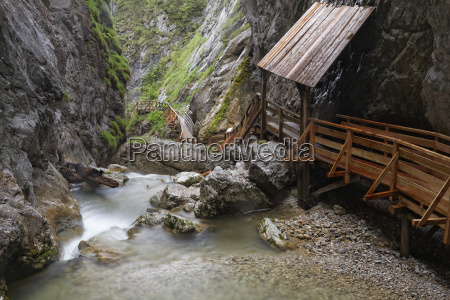 austria styria view of waterfall at
