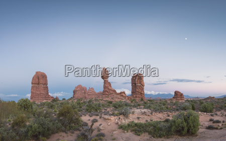 usa utah arches national park view
