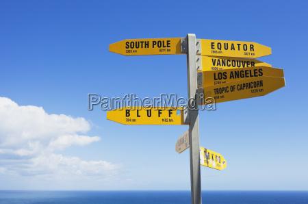 new zealand north island sign post